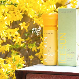 Review kem chống nắng 3 trong 1 Nature Republic Ice Puff SPF50 PA+++